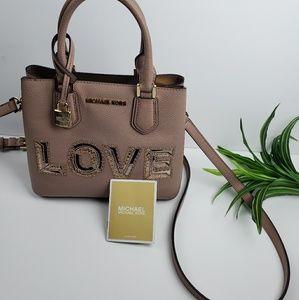 Michael Kors Mercer Medium Love Crossbody Bag Soft